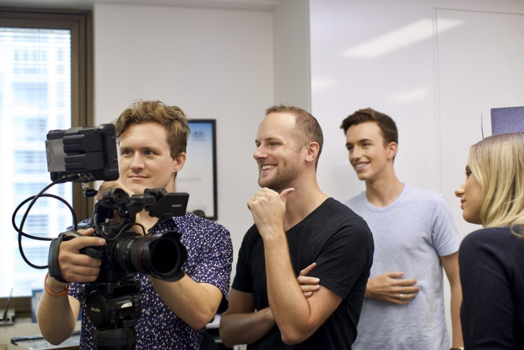 The Brisbane video production team in action