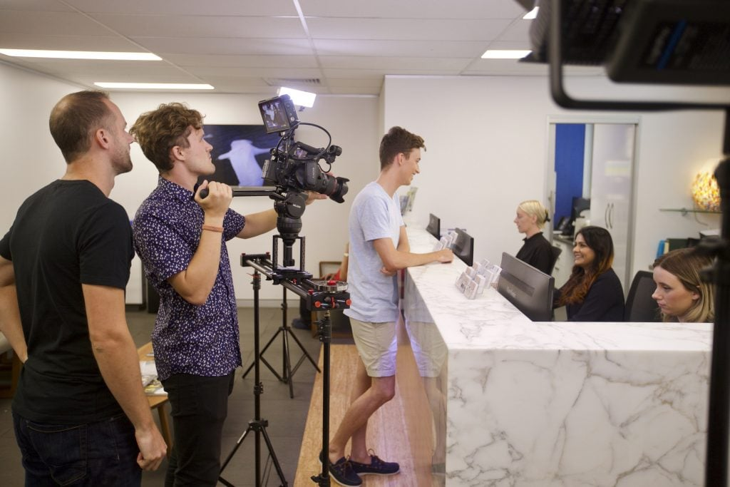 Video production for an online business marketing campaign in Brisbane.